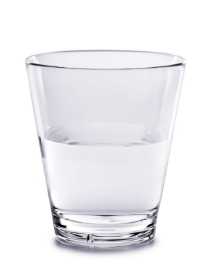 Enjoy a glass of water first thing in the morning